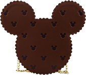 """Mickey Mouse - Mickey & Minnie Mouse Sweet Treats Ice Cream Sandwich 11"""" Faux Leather Crossbody Bag"""