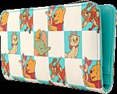 "Disney - Disney Classics Mint Checker Print 8"" Faux Leather Flap Wallet"