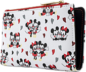 """Mickey Mouse - Mickey & Minnie Mouse Love Heart 6"""" Faux Leather Flap Wallet"""