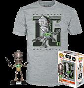 Star Wars: The Mandalorian - IG-11 with The Child (Baby Yoda) Pop! Vinyl Figure & T-Shirt Box Set