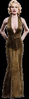 Gentlemen Prefer Blondes - Marilyn Monroe as Lorelei Lee in Gold Dress 1/6th Scale Action Figure Main Image