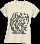 Thor - For Asgard Cream Female T-Shirt