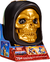 Masters of the Universe - He-Man Mini Action Figure with Jet Sled Skeletor Skull Case Playset