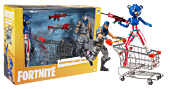 """Fortnite - Series 01 Shopping Cart with Two Figures 7"""" Scale Action Figure Pack"""