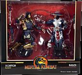 "Mortal Kombat 11 - Scorpion Blackout Variant & Raiden Uncompromising Defender Variant 7"" Action Figure 2-Pack"
