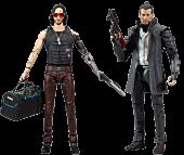 "Cyberpunk 2077 - Wave 2 Johnny Silverhand & Takemura 7"" Action Figure Assortment (Set of 2)"