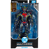 """Superman: Unchained - Superman Energised Armour DC Multiverse Gold Label 7"""" Scale Action Figure"""