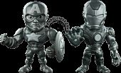 "Captain America: Civil War - Iron Man and Captain America 4"" Metals Die-Cast Bare Metal Action Figure 2-Pack (2016 SDCC Exclusive) Main Image"