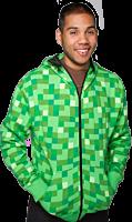 Minecraft - Creeper Green Premium Zip-Up Hoodie
