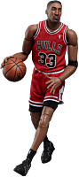 NBA Basketball - Scottie Pippen 1/9th Scale Enterbay Action Figure by Enterbay.