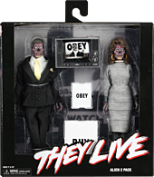 """They Live - Male & Female Alien Clothed 8"""" Action Figure 2-Pack"""