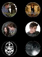 Twilight Saga: Twilight - Cullen Crest Button / Pin 6-Pack (Style B)
