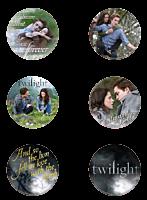 Twilight Saga: Twilight - Edward and Bella Button / Pin 6-Pack (Style E)