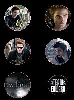Twilight Saga: Twilight - Team Edward Button /Pin 6-Pack (Style D)