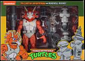 """Teenage Mutant Ninja Turtles (1987) - Triceraton Infantryman & Roadkill Rodney 7"""" Action Figure 2-Pack"""