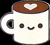 100% Soft - Coffee Luv Enamel Pin