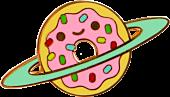 100% Soft - Donut Galaxy Enamel Pin