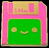 100% Soft - Lil' Diskette Enamel Pin