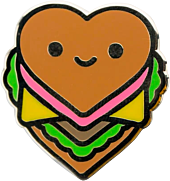 100% Soft - Burger Luv Enamel Pin