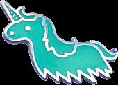 100% Soft - Unicorn Ghost Glow-in-the-Dark Enamel Pin