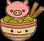 100% Soft - Pig Chan's Ramen Soak Enamel Pin