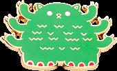 100% Soft - Pangpang Kaiju Kitties Enamel Pin