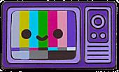 100% Soft - TV Color Bars Enamel Pin