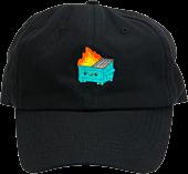 100% Soft - Dumpster Fire Black Dad Hat