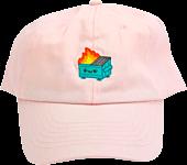 100% Soft - Dumpster Fire Pink Dad Hat