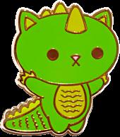 100% Soft - Kaiju Kitties Boomu Enamel Pin