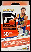 NBA Basketball - 2020-21 Panini Donruss Trading Cards Hanger Box (50 Cards)