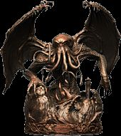 """H.P. Lovecraft - Cthulhu Faux Bronze Exclusive Museum of Madness 22"""" Statue"""