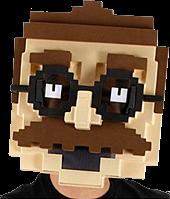 8-Bit - Pixel Man Mask