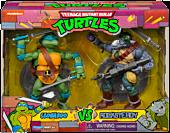 """Teenage Mutant Ninja Turtles - Leonardo vs. Rocksteady Classic 6"""" Action Figure 2-Pack"""