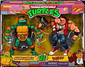 "Teenage Mutant Ninja Turtles - Michelangelo vs. Bebop Classic 6"" Action Figure 2-Pack"