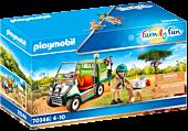 Playmobil: Family Fun - Zoo Vet with Medical Cart Playset (70346)