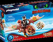 Dragons - Dragon Racing: Fishlegs and Meatlug Playmobil Playset (70729)