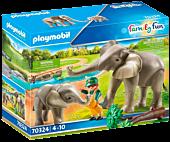 Playmobil: Family Fun - Elephant Habitat Figure Set (70324)