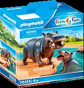 Playmobil: Family Fun - Hippo with Calf Figure Set (70354)