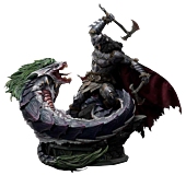 Batman - Batman Versus Joker Dragon 1/3 Scale Statue