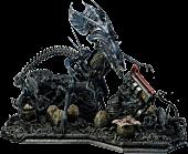 """Aliens - Queen Alien Battle 28"""" Diorama Statue"""