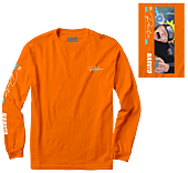 Naruto: Shippuden - Naruto x Primitive Combat Long Sleeve T-Shirt Orange