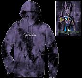 Dragon Ball Super - DBS x Primitive Shadow Beerus Washed Purple Sweatshirt Hoodie