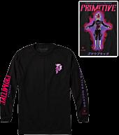 Dragon Ball Super - DBS x Primitive Black Rose Goku Black Long-Sleeve T-Shirt