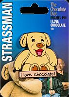 David Strassman: The Chocolate Diet - I Love Chocolate Enamel Pin