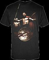 300 - King Leonidas and 300 Logo Male T-Shirt 1