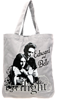 Twilight - Edward and Bella Embrace Vector Distressed Tote Bag
