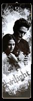Twilight - Edward Cullen and Bella Swan Grey Tones Bookmark