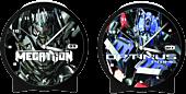 Transformers 2 - Optimus and Megatron Lenticular Alarm Clock
