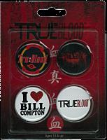 True Blood - 4 Pack of Pins / Buttons Set #0
